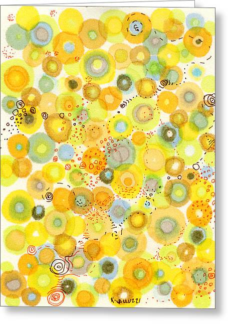 Bubbly Drawings Greeting Cards - Lemon Fizz Greeting Card by Regina Valluzzi