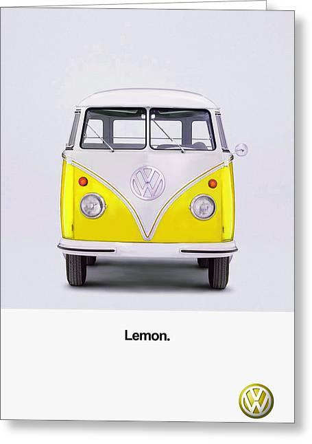 Beetle Greeting Cards - Lemon Greeting Card by Mark Rogan