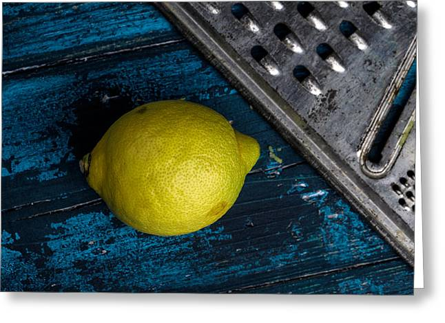 Cyan Greeting Cards - Lemon Greeting Card by Nailia Schwarz