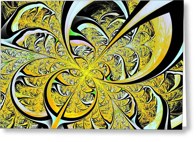 Orange Greeting Cards - Lemon Twist Greeting Card by Anastasiya Malakhova