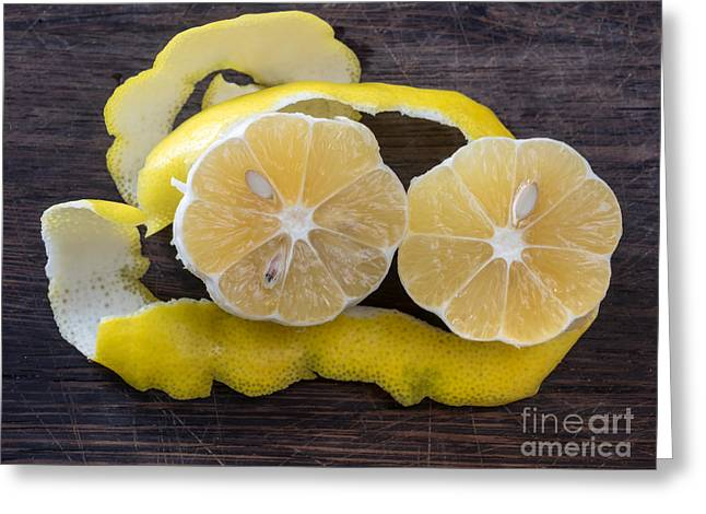 Grate Greeting Cards - Lemon zest Greeting Card by Frank Bach