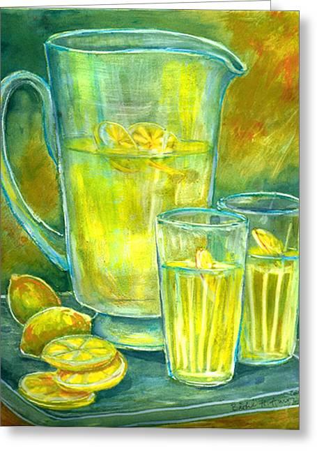 Lemonade Greeting Cards - Lemonade Greeting Card by Barbel Amos