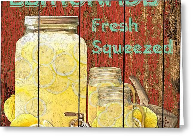 Lemonade Greeting Card by Jean PLout