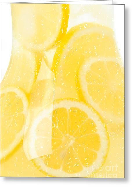 Drip Greeting Cards - Lemonade Greeting Card by Jt PhotoDesign