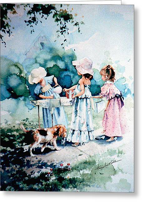 Pretends Art Greeting Cards - Lemonade Ladies Greeting Card by Hanne Lore Koehler