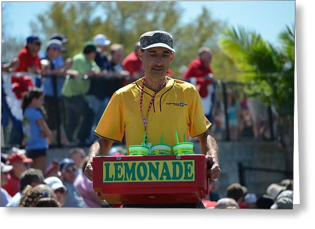 Brighthouse Field Greeting Cards - Lemonade Vendor Greeting Card by Steven Blivess