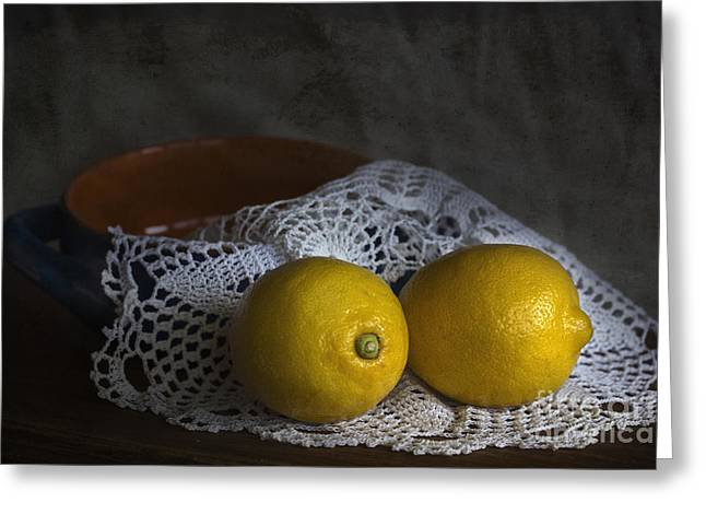 Hispaniola Greeting Cards - Lemons Greeting Card by Elena Nosyreva