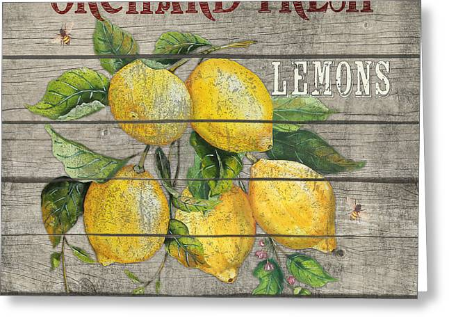 Locally Grown Greeting Cards - Lemons-JP2679 Greeting Card by Jean Plout