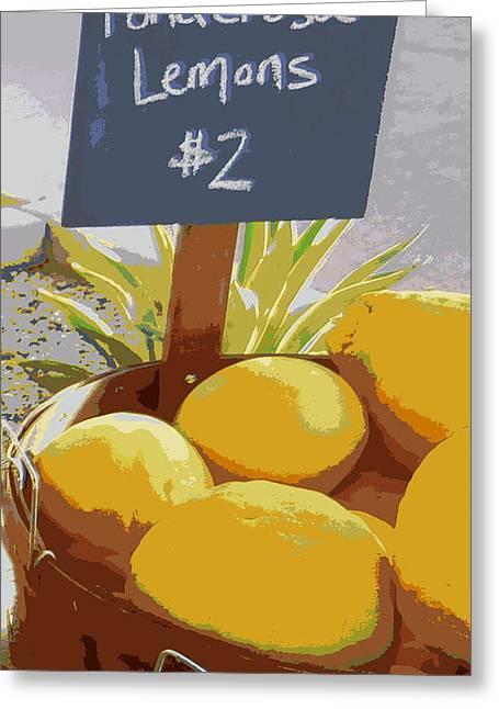Sour Greeting Cards - Lemons Greeting Card by Karyn Robinson