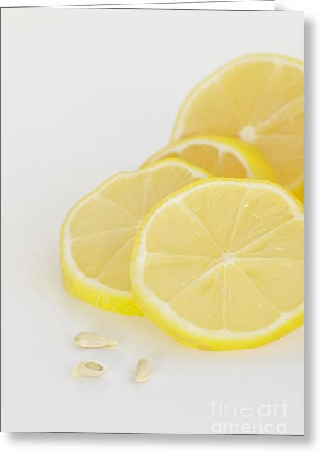 Lemon Art Greeting Cards - Lemons Greeting Card by Kay Pickens