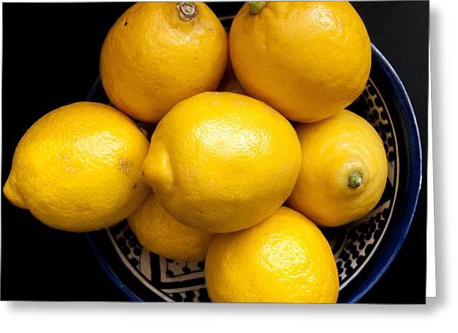 Lemon Art Greeting Cards - Lemons Greeting Card by Peter Oliver