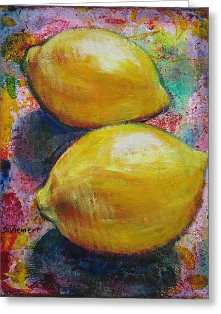 Lemons Greeting Card by Sheila Diemert