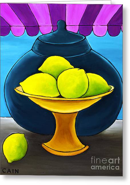 William Cain Greeting Cards - Lemons Greeting Card by William Cain
