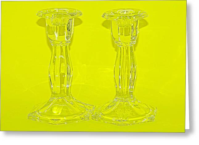 Shiny Glass Art Greeting Cards - Lemonsticks Greeting Card by Catherine Renzini