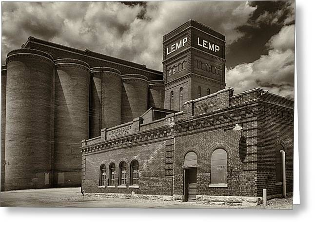 Falstaff Greeting Cards - Lemp and Western Cable Railroad Sepia DSC06463 Greeting Card by Greg Kluempers