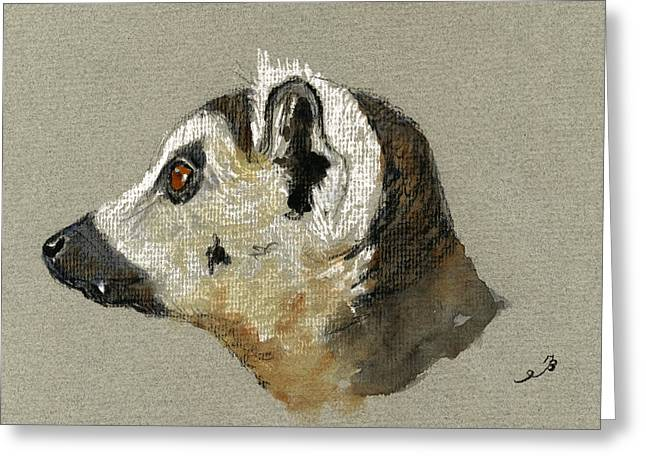 Rainforest Greeting Cards - Lemur head study Greeting Card by Juan  Bosco