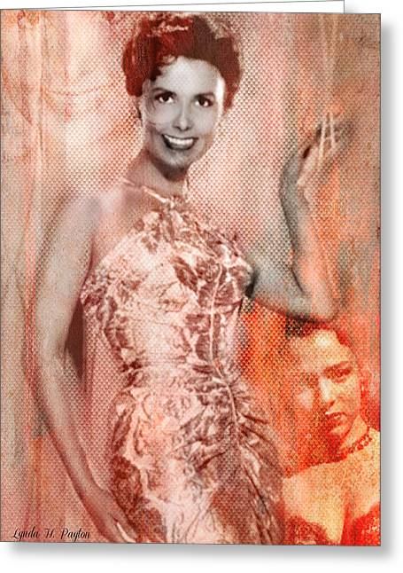 Ev-in Greeting Cards - Lena Horne Greeting Card by Lynda Payton