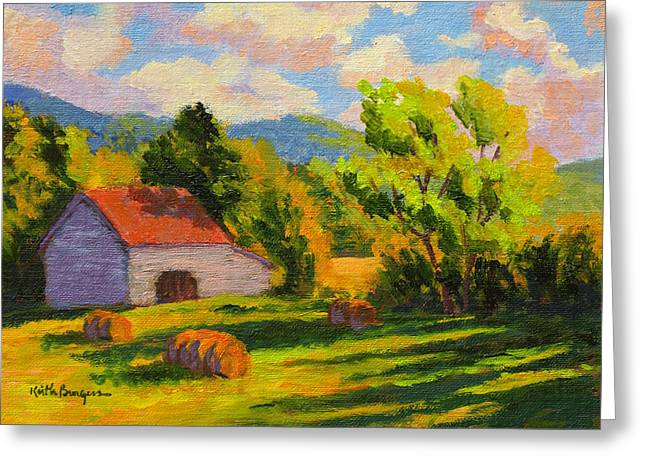 Tin Roof Greeting Cards - Lengthening Shadows Greeting Card by Keith Burgess