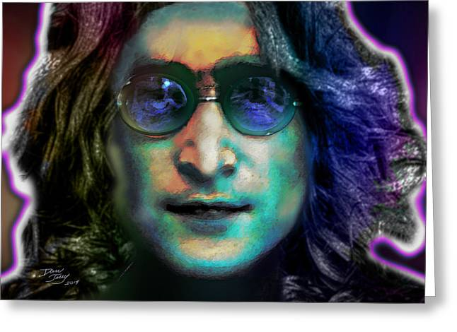 Austin ist Digital Greeting Cards - Haunting Lennon  Greeting Card by Dan Terry