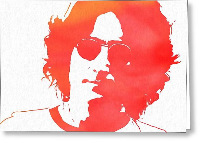 Rolling Stones Greeting Cards - Lennon Greeting Card by Dan Sproul