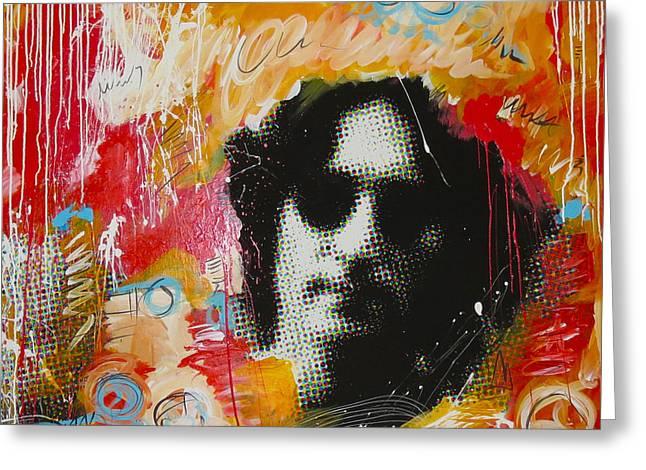 John Lennon Posters Greeting Cards - Lennon Greeting Card by Elliott From