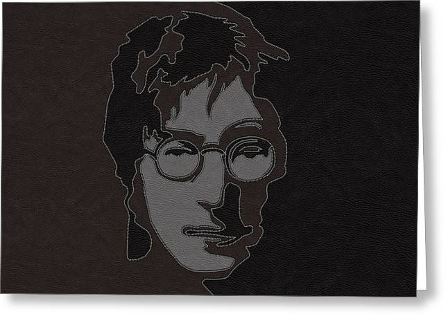 Patch Work Greeting Cards - Lennon Greeting Card by Linda Persson