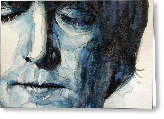 John Lennon Paintings Greeting Cards - Lennon Greeting Card by Paul Lovering