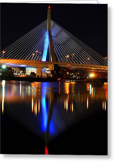 North Point Greeting Cards - Lenny Zakim Bridge from North Point Park Greeting Card by Toby McGuire