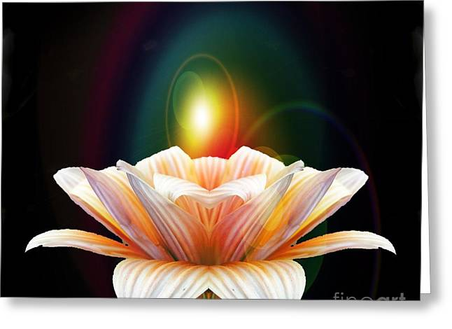 Lens Mixed Media Greeting Cards - Lens Flare Greeting Card by Ben Yassa