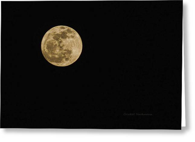 Sea Moon Full Moon Greeting Cards - Lenten Moon Greeting Card by Cricket Hackmann