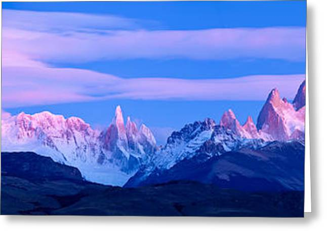 Mountain Greeting Cards - Lenticular Clouds And Pre-dawn Light Greeting Card by Panoramic Images