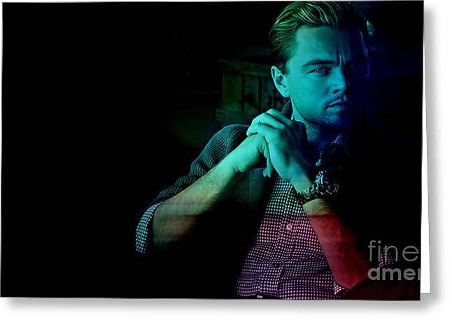 Star Greeting Cards - Leo Dicaprio Greeting Card by Marvin Blaine