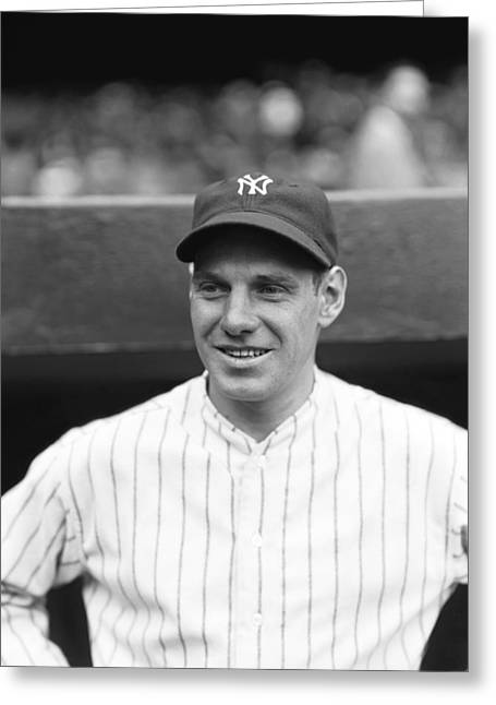 Historical Pictures Greeting Cards - Leo Durocher With The Yankees Greeting Card by Retro Images Archive