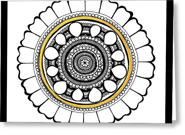 Intrigue Mixed Media Greeting Cards - Leo Mandala Greeting Card by Monique Butcher