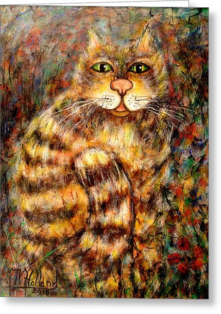 Natalie Holland Greeting Cards - Leo Greeting Card by Natalie Holland