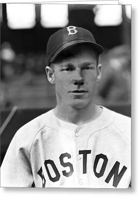 Boston Red Sox Greeting Cards - Leo W. Red Nonnenkamp Greeting Card by Retro Images Archive