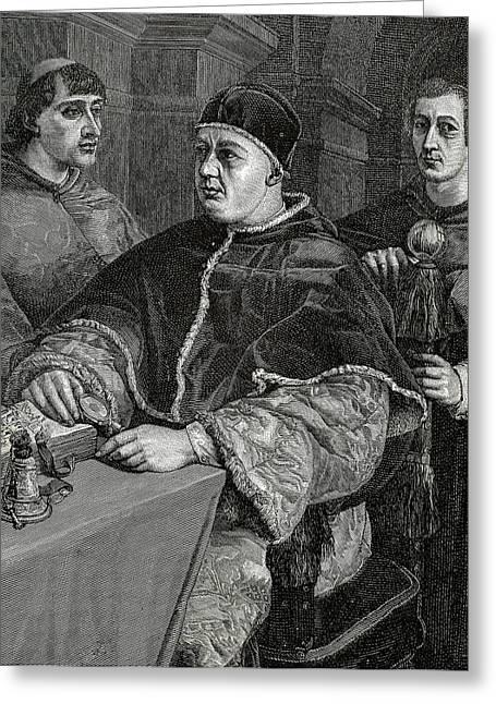 Leo X (1475-1521 Greeting Card by Prisma Archivo