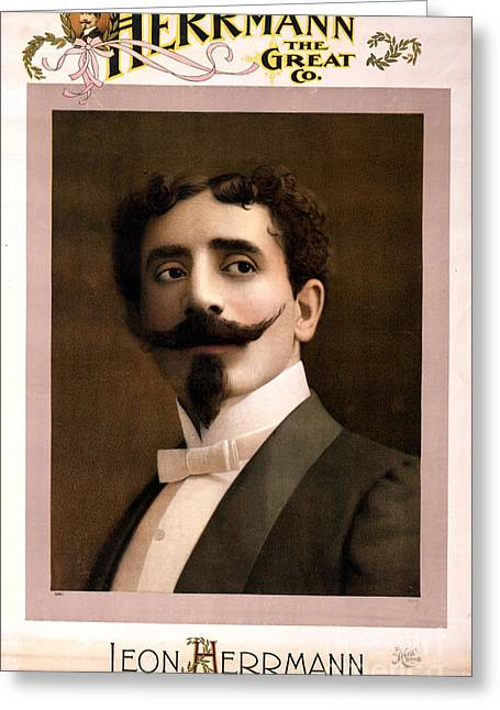 First-family Greeting Cards - Leon Herrmann, French Magician Greeting Card by Photo Researchers