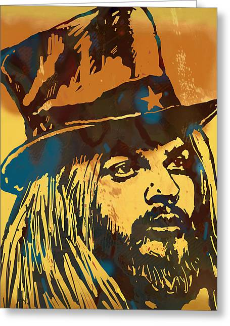 Che Greeting Cards - Leon ressell Stylised modern pop art sketch poster Greeting Card by Kim Wang