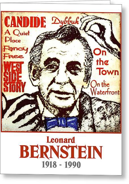 Bernstein Greeting Cards - Leonard Bernstein Greeting Card by Paul Helm