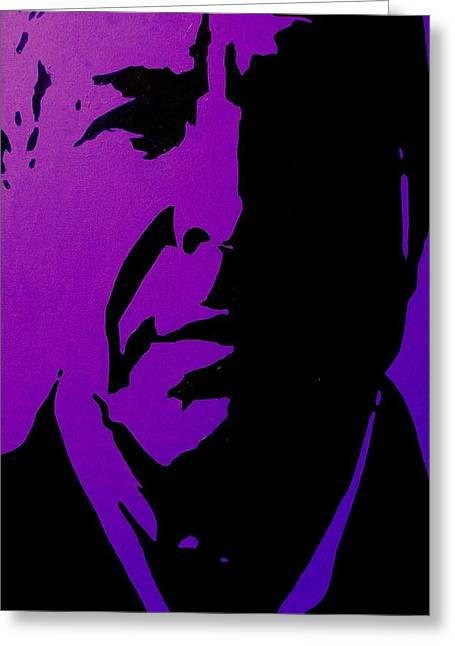 Icon Paintings Greeting Cards - Leonard Cohen Greeting Card by John  Nolan