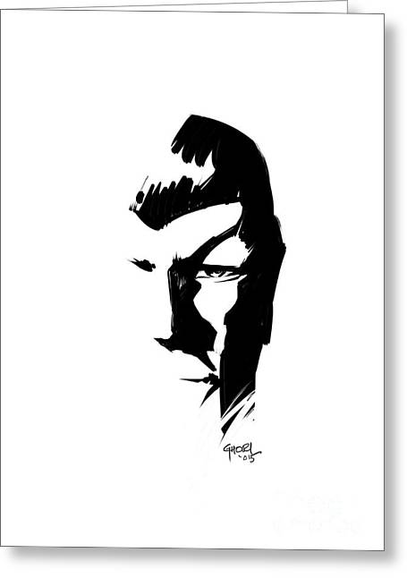 Enterprise Drawings Greeting Cards - Leonard Nimoy Spock Tribute Greeting Card by Ashraf Ghori