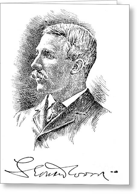 Autograph Greeting Cards - Leonard Wood (1860-1927) Greeting Card by Granger