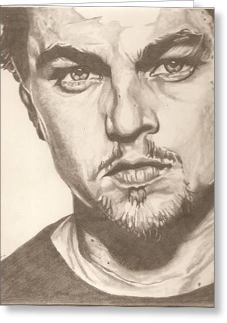Aviator Drawings Greeting Cards - Leonardo DiCaprio drawing Greeting Card by Robert Crandall