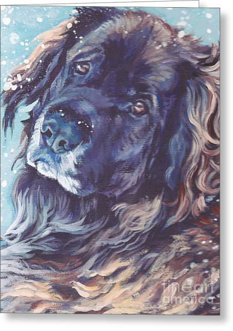 Leonberger Greeting Cards - Leonberger Portrait Greeting Card by Lee Ann Shepard