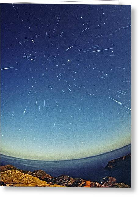 Leonids Meteor Shower Greeting Card by Juan Carlos Casado (starryearth.com)