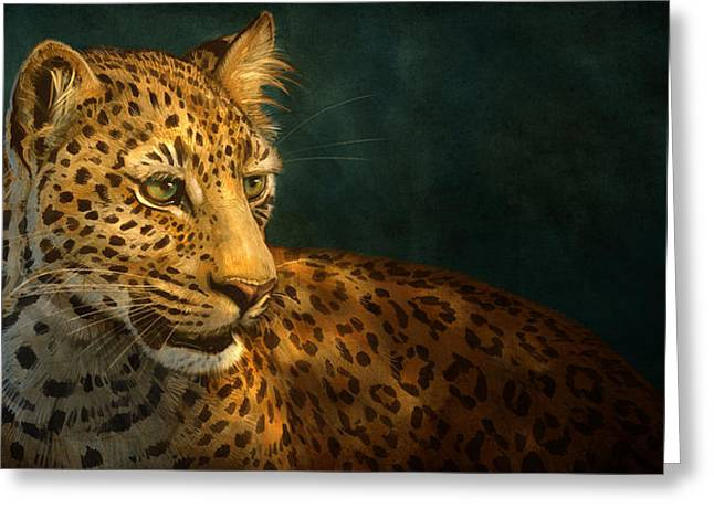 Blaise Greeting Cards - Leopard Greeting Card by Aaron Blaise