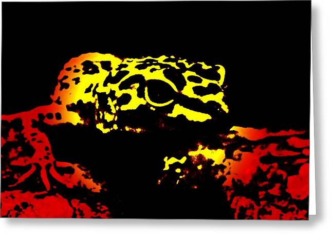 Europe Mixed Media Greeting Cards - Leopard Gecko Greeting Card by Esteban Jesus Bordallo