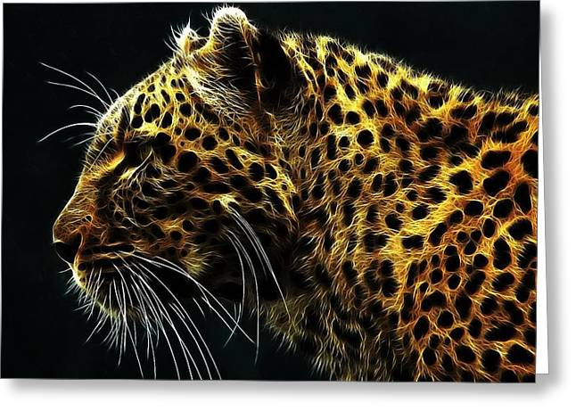 Leopard Running Greeting Cards - Leopard hope Greeting Card by Mousa Nasser