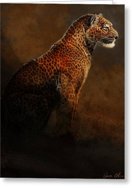 Big Cat Art Greeting Cards - Leopard Portrait Greeting Card by Aaron Blaise